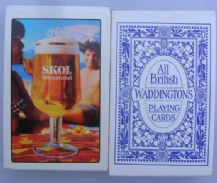 Collectible Vintage Beer adverting playing cards Skol Lager,
